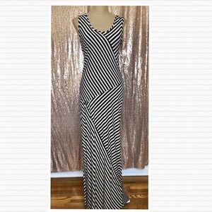 Striped Maxi Dress PINK ROSE